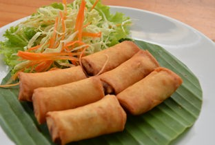 Vegetable spring roll.