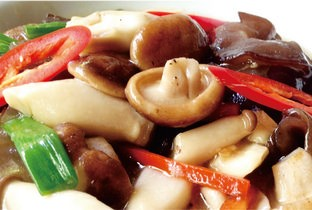 Stir fried mixed mushroom.